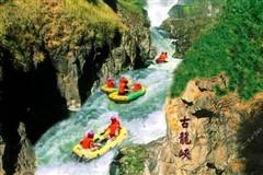 <清远一日游>清远古龙峡漂流+万丈崖瀑布探险+圣旅生态园