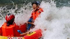<清远黄腾峡直通车1日游>水上乐园、栈道探险 含中餐纯玩无购物
