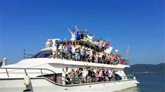 <惠州东部湾2日游>入住海边海景房,游轮出海,沙滩烧烤、海边烟花