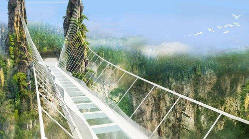 【张家界】<张家界-袁家界-天子山-大峡谷玻璃桥-凤凰双飞6日游>小资之选,直飞张家界,探险玻璃桥,潇潇烟雨张家界