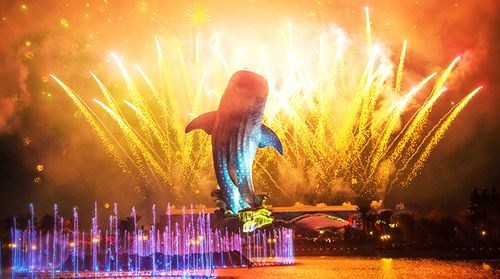 【长隆】<珠海长隆海洋王国-圆明新园-梦幻水城2日游>烟花汇演