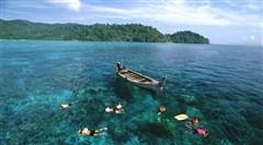 <普吉岛-攀牙府-斯米兰群岛5晚6日游>、斯米兰群岛、骑大象、皇帝岛浮潜、自由活动、0自费